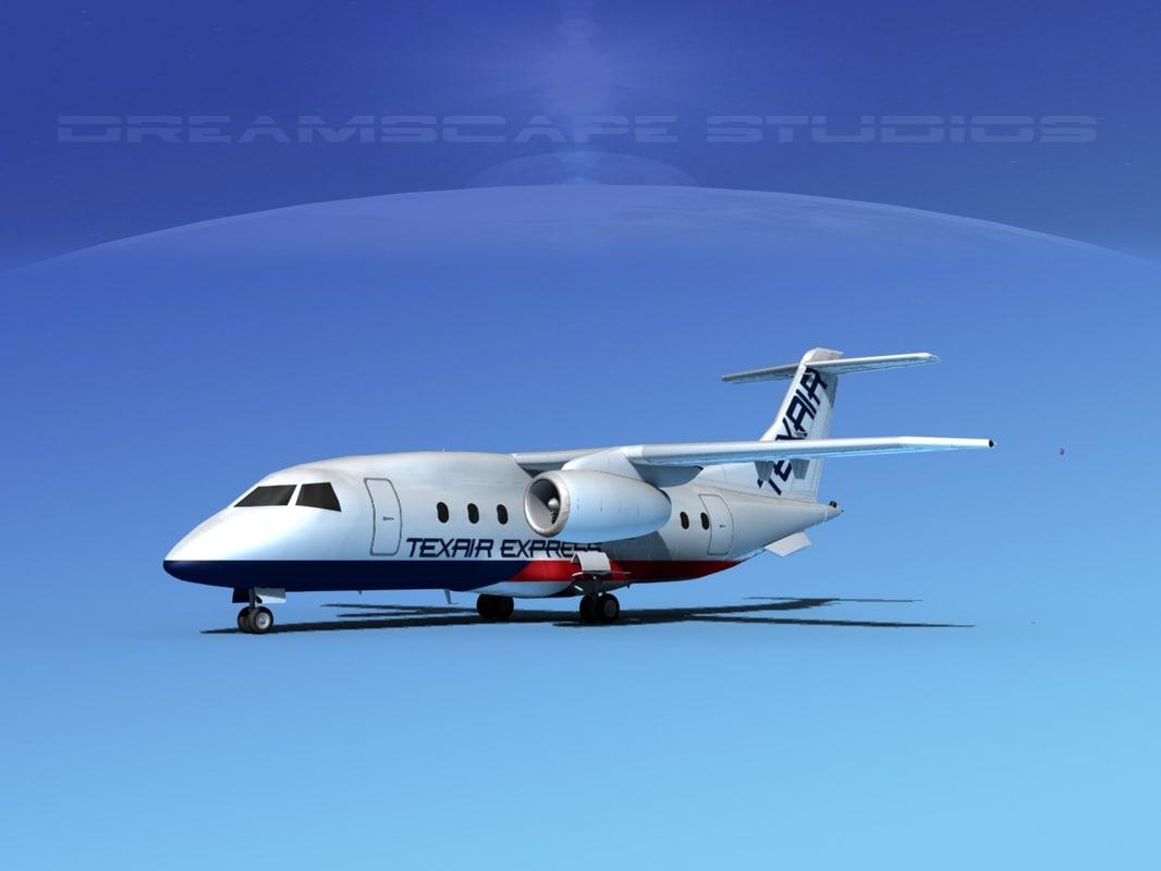 3d model airlines 328jet jet aircraft