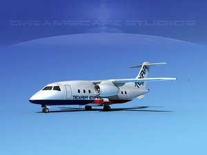 3d model airlines 328jet jet aircraft