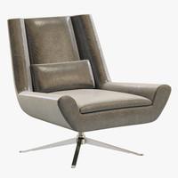 rh modern luke leather chair max
