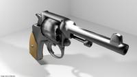 3d handgun revolver model