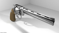 3d model gun handgun revolver