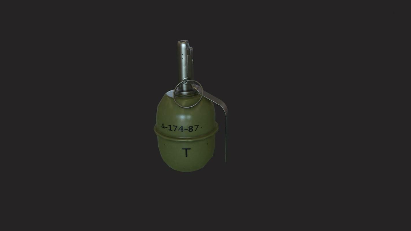 grenade soviet 3d model