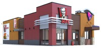 3d fast food restaurant model