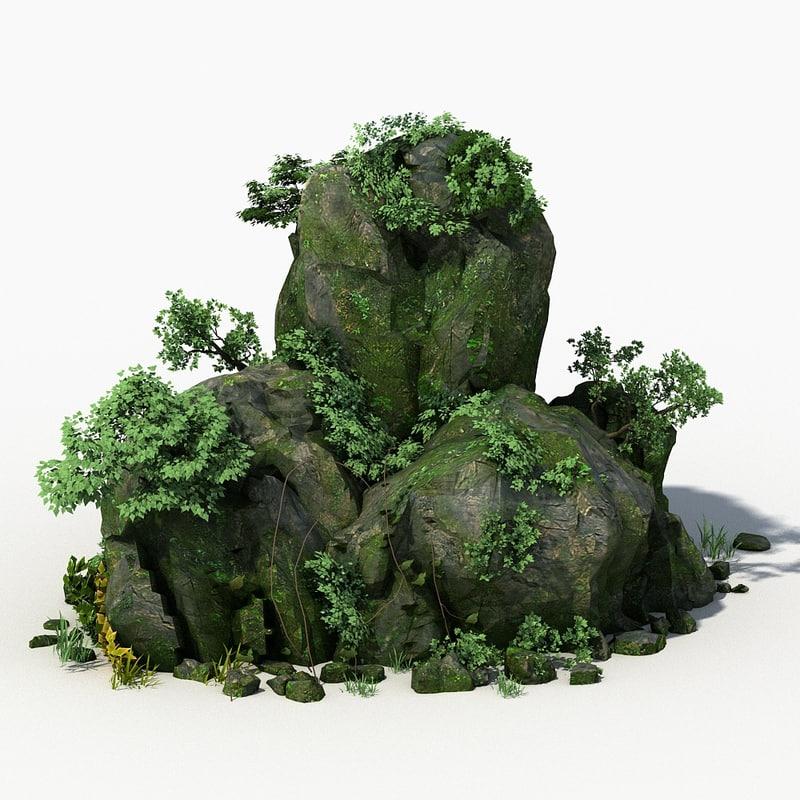 rock stone landscape moss max