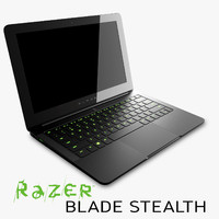 razer blade stealth 3d model