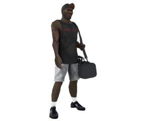 male afro american 3d model