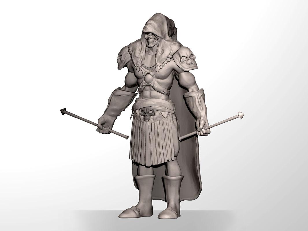 3d model skeleton warrior