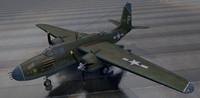 douglas a-20g havoc bomber 3d 3ds