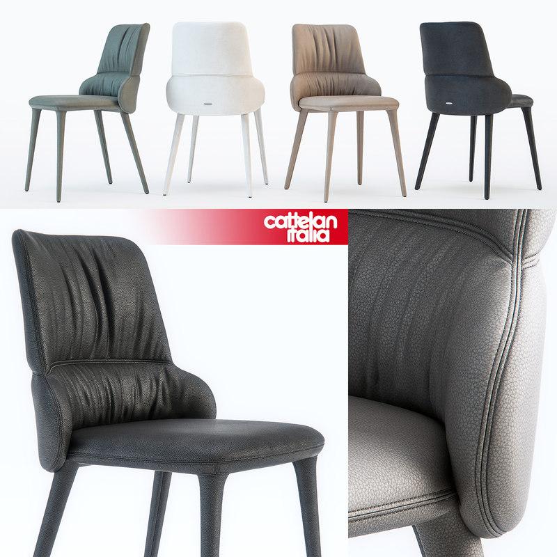 cattelan italia ginger chair 3d model