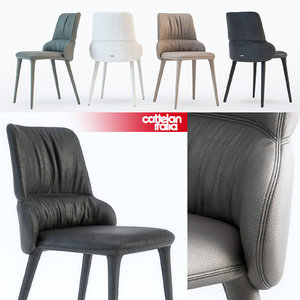 cattelan italia ginger chair 3d model