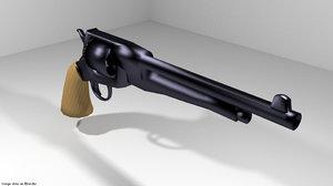 handgun revolver gun 3ds
