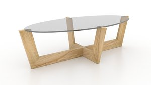 3d model viesso ablo oval coffee table