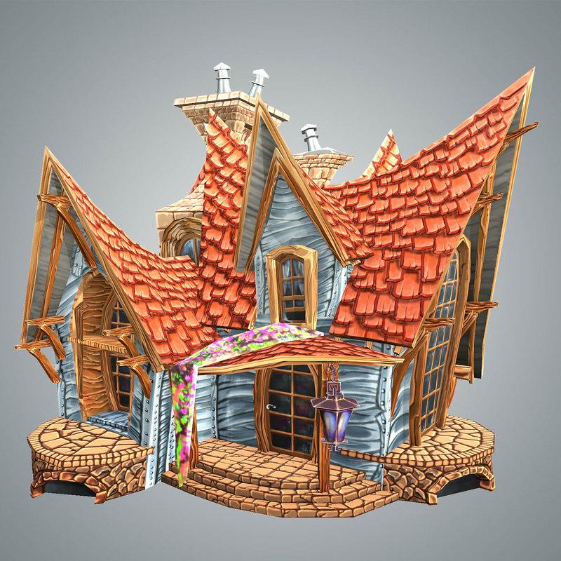 max stylized strange house