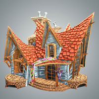 Low Poly Stylized Strange House