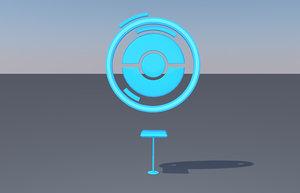 3d model pokestop