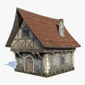 medieval fantasy house 3d max