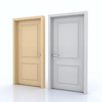 3d door room model