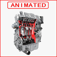 Engine Cutaway Animated