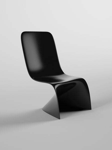 3d simple modern chair model