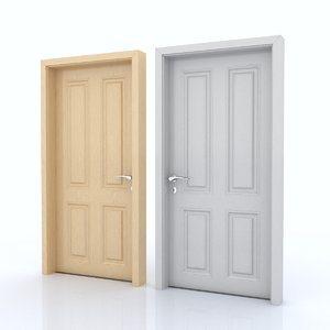 3d model of door room
