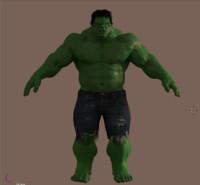hulk character 3d 3ds