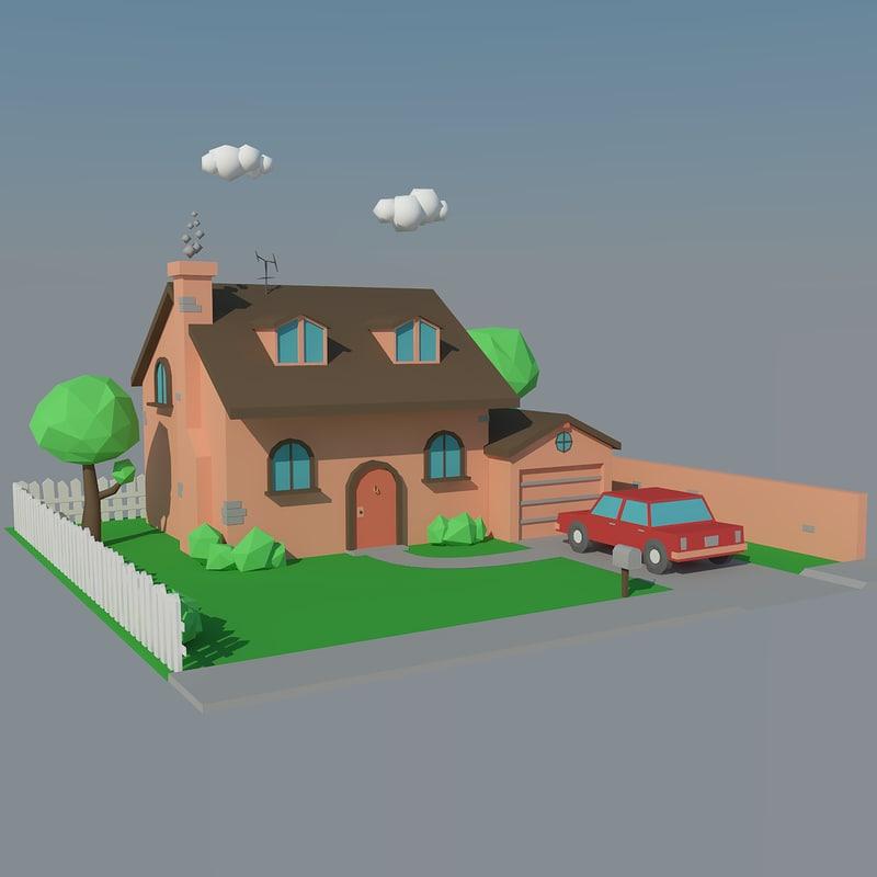 house car 3d max