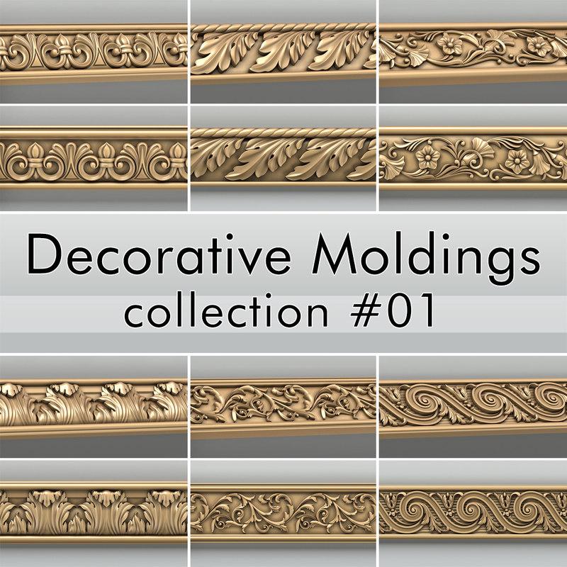 3d decorative moldings 001 model