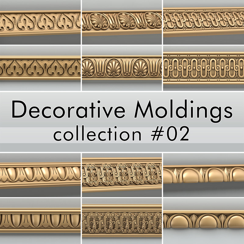 decorative moldings 3d model