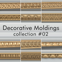 decorative moldings 3d model