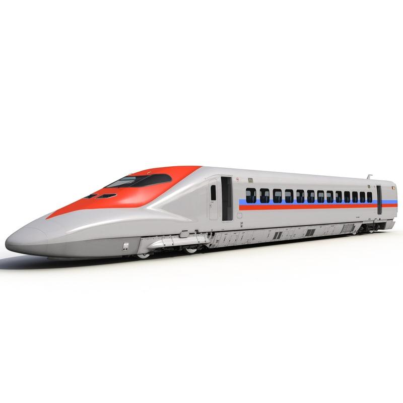 3d model of speed train locomotive generic