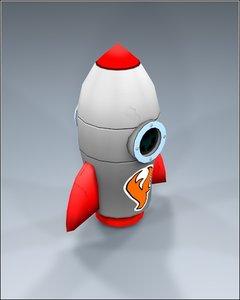 3d rocket toy model