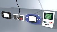 consoles controllers nintendo 3d c4d