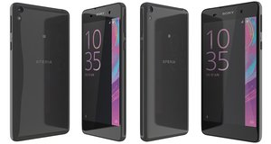 sony xperia e5 black 3d model
