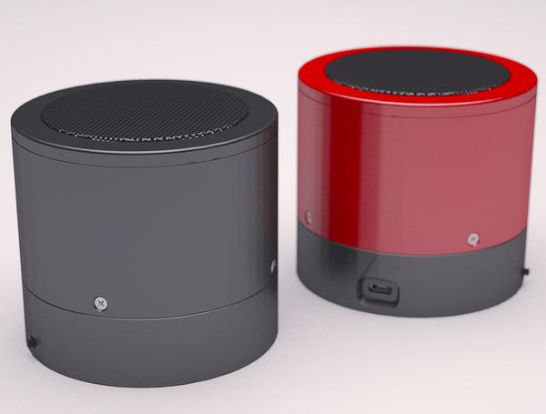3d mini blue tooth speaker model
