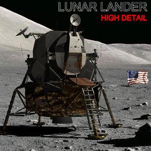 3d max lunar lander