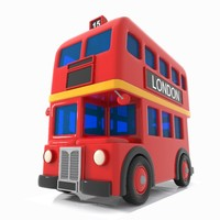 Cartoon Double-Decker Bus