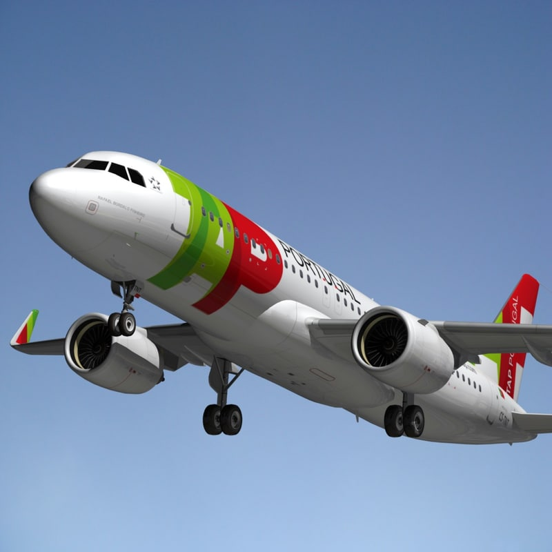 3d model airbus a320 tap portugal