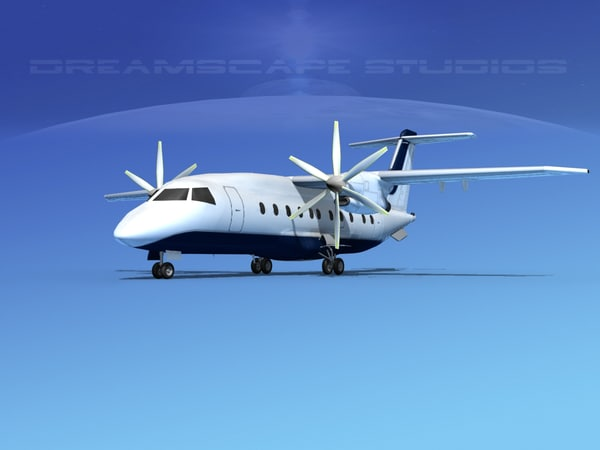 3d model of dornier turboprop