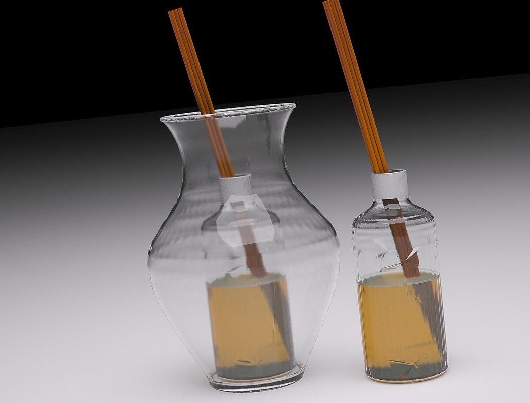 3d model essence oil aroma vase