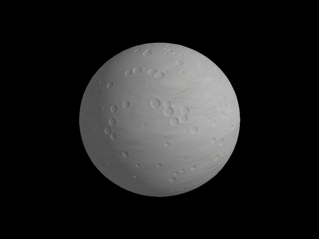 generic moon 3d model