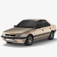 3d model peugeot 405 glx -