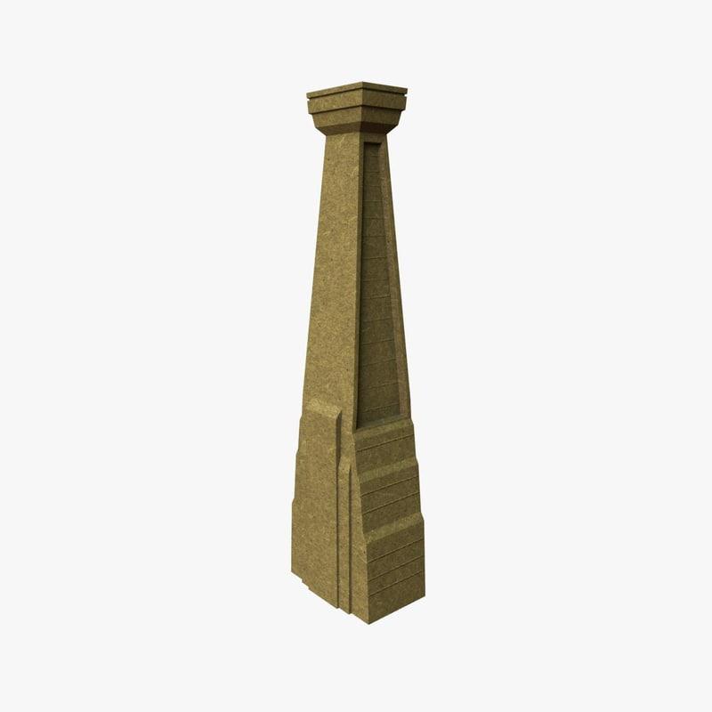 unity column 3d model