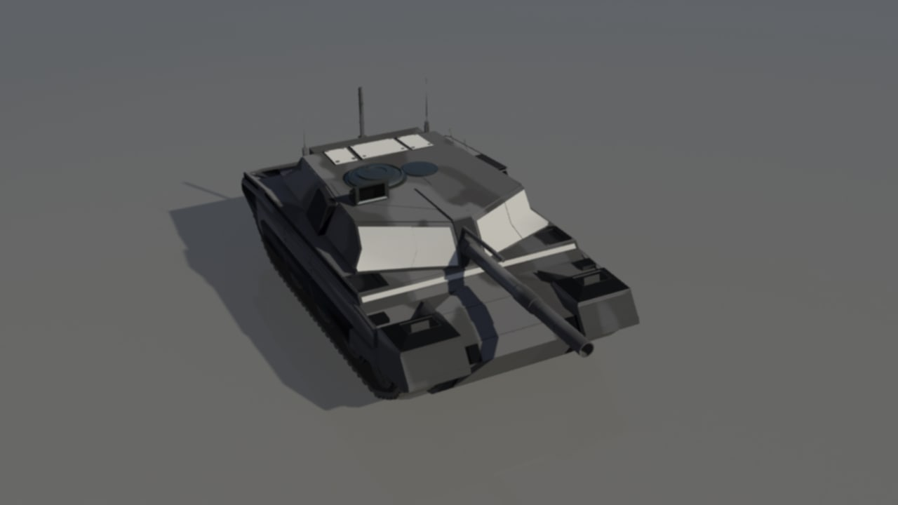 3d tank vehicle war model