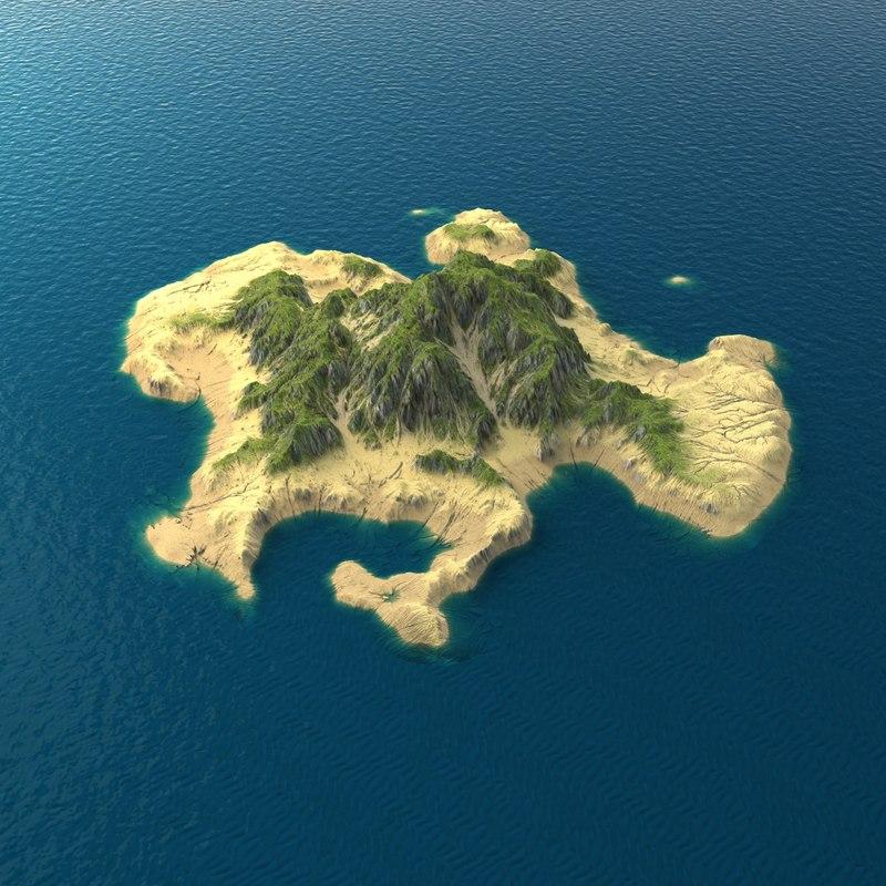 tropical island terrain 4 max