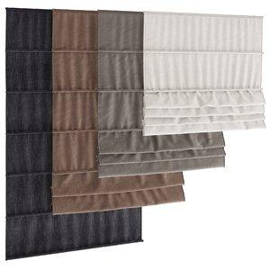3d model roman blinds