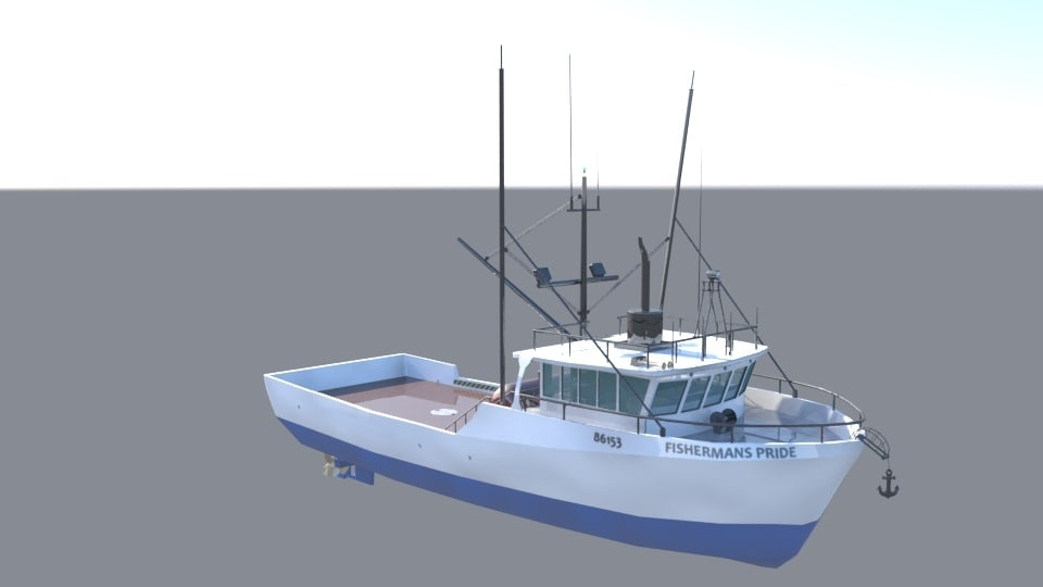 3d x fishing boat commercial