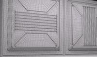 3d sci-fi wall panel vx