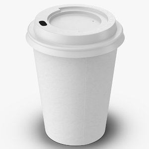 coffee cup 12oz takeout 3d max