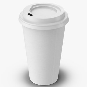 coffee cup 16oz takeout 3d model