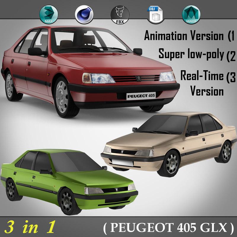 3d model of 3 1 peugeot 405